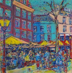 Rembrandt Square Amsterdam, I Holland.  ´T CENTRUM BAR,  #4878